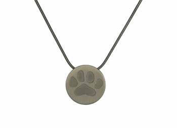 Pewter Large Paw Pendant